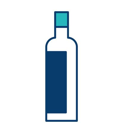 Bouteille d'alcool boisson alcoolisée image vector illustration design vert et bleu Banque d'images - 97716694