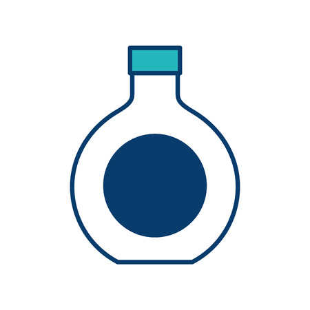 alcohol drink liquor bottle image vector illustration green and blue design
