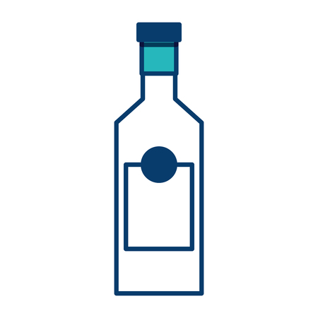 alcohol drink liquor bottle image vector illustration green and blue design