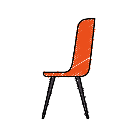 plastic chair furniture comfort image vector illustration  イラスト・ベクター素材