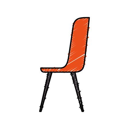 plastic chair furniture comfort image vector illustration Ilustrace