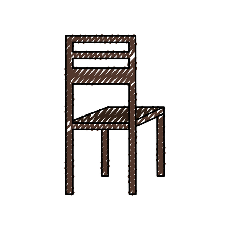 wooden chair classic furniture image vector illustration Illustration