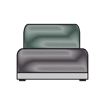 sofa chair soft texture furniture image vector illustration Illustration