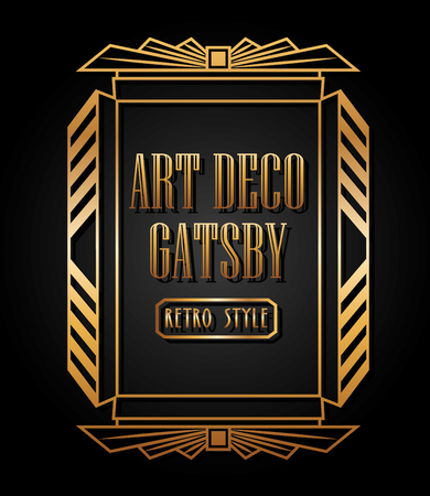 art deco element design, vector illustration eps10 graphic  Stock Illustratie