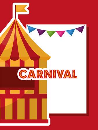 carnival tent booth flag garland vector illustration
