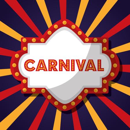 carnival fair festival board sign vector illustration