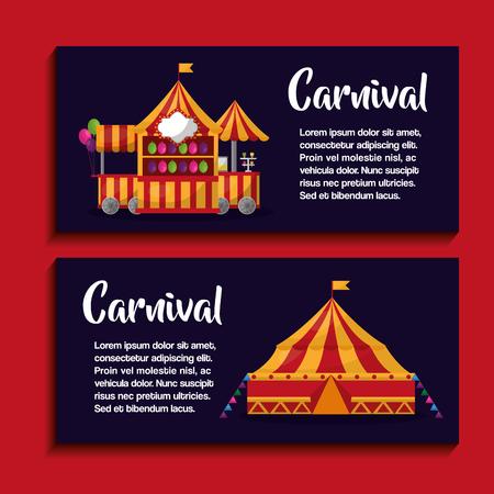 carnival fair festival banner show presentation vector illustration