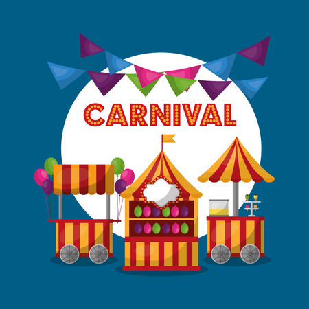 carnival fair festival amusement show poster vector illustration
