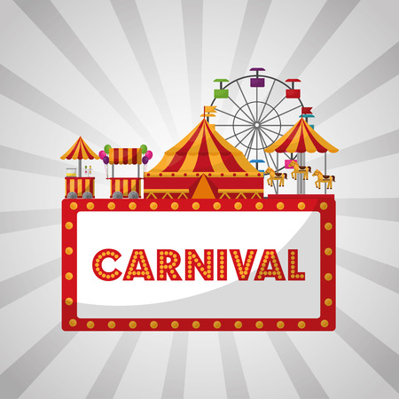 carnival fair festival amusement park vector illustration