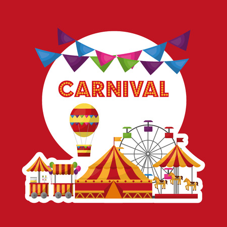carnival fair festival amusement entertainment vector illustration