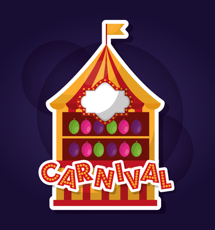 carnival shooting balloons game enjoy vector illustration Ilustração