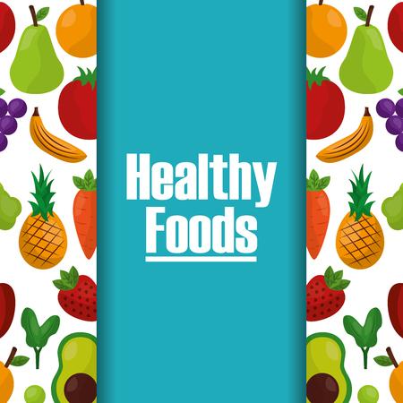 healthy foods lifestyle fruits natural background vector illustration Illustration