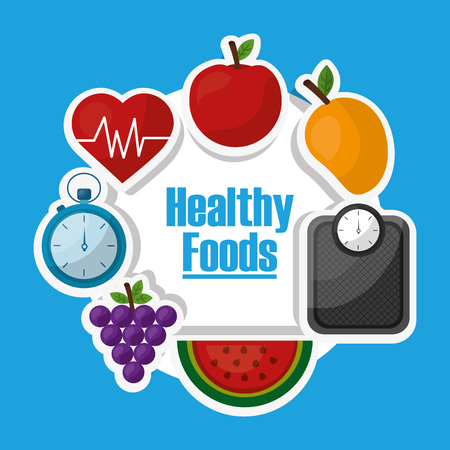healthy lifestyle dieting fitness nutrition vector illustration Ilustração