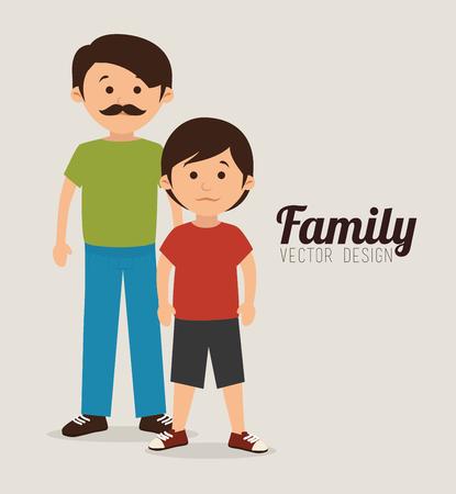 Conception graphique de l'unité familiale Banque d'images - 97749267