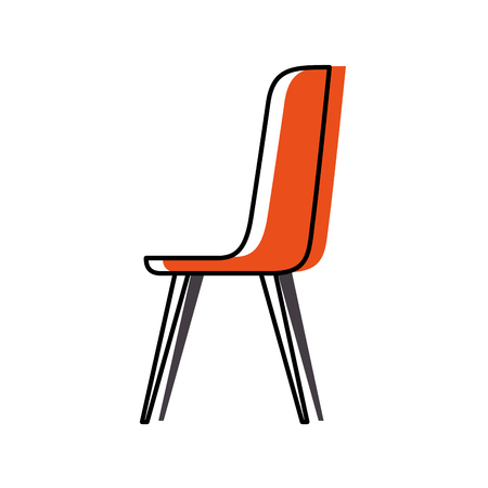 plastic chair furniture comfort image vector illustration Illustration