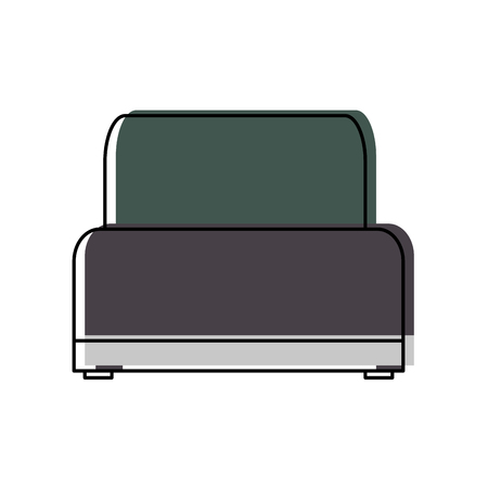 sofa chair soft texture furniture image vector illustration Stock Photo