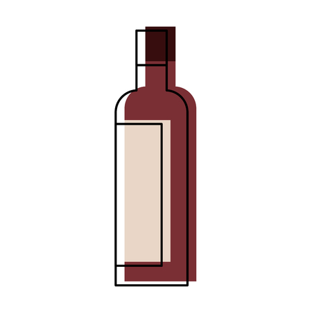 Alcohol drink liquor bottle image vector illustration