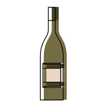 alcohol drink liquor bottle image vector illustration