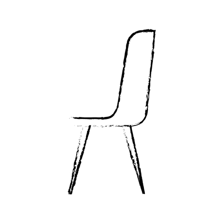 Plastic chair furniture comfort image vector illustration sketch design