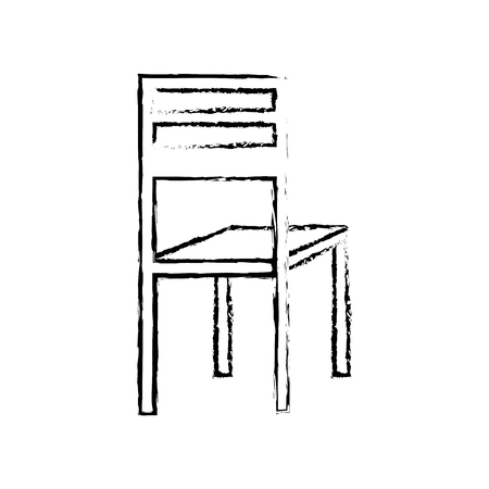 Wooden chair classic furniture image vector illustration sketch design