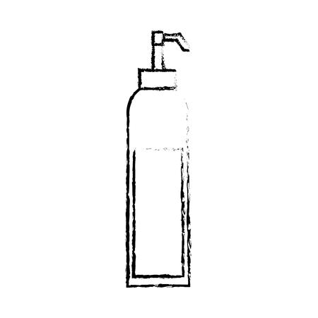 dispenser of sauce ingredient condiment vector illustration sketch design