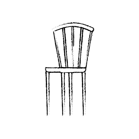 wooden elegant chair furniture image vector illustration sketch design