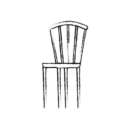 wooden elegant chair furniture image vector illustration sketch design