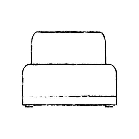 Sofa chair soft texture furniture image vector illustration sketch design