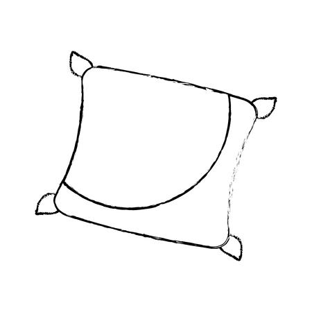 Decorative cushion soft elegant image vector illustration sketch design