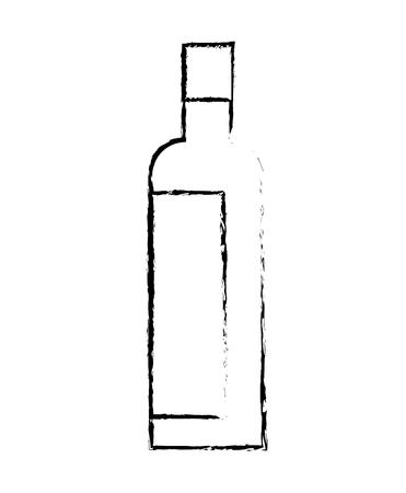 alcohol drink liquor bottle image vector illustration sketch design