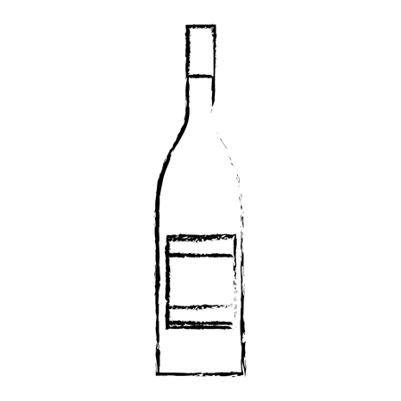alcohol drink liquor bottle image vector illustration sketch design