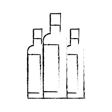 Liquor bottles drink beverage alcohol vector illustration sketch design 版權商用圖片 - 97852657
