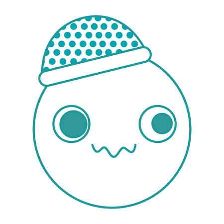emoticon with hat character vector illustration design 일러스트