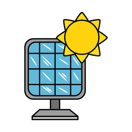 panel solar energy alternative vector illustration design