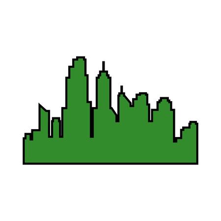 buildings cityscape isolated icon vector illustration design Archivio Fotografico - 97860839