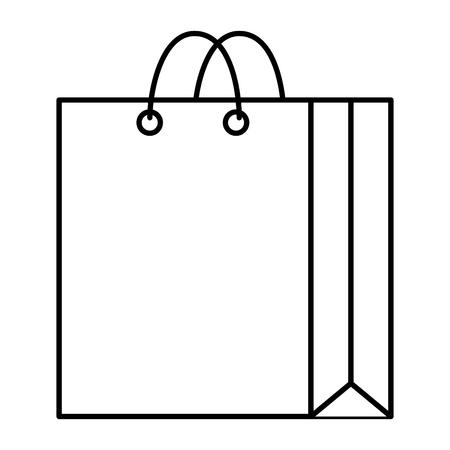 paper shopping bag icon vector illustration design