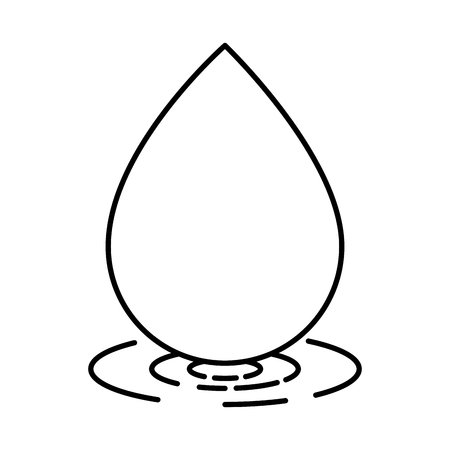 water drop ecology icon vector illustration design