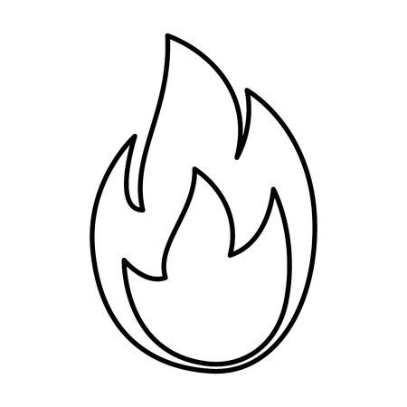 ontwerp van de het pictogram vectorillustratie van de brandvlam het geïsoleerde Vector Illustratie