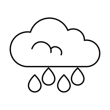 cloud rain weather isolated icon vector illustration design Illustration