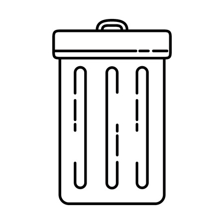 recycle bin isolated icon vector illustration design Ilustrace