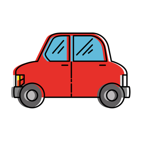 eco car vehicle transport icon vector illustration design Ilustracja