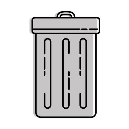 recycle bin isolated icon vector illustration design Ilustração