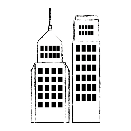 Buildings cityscape isolated icon vector illustration design.