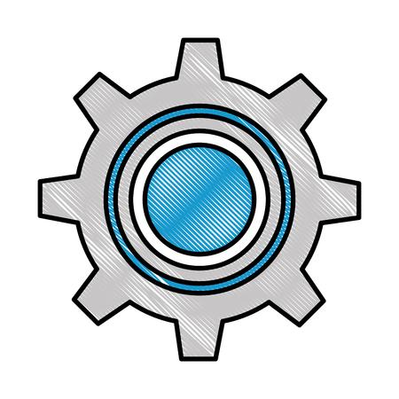 gear machine isolated icon vector illustration design Фото со стока - 97880995