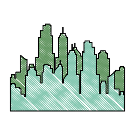 buildings cityscape isolated icon vector illustration design Archivio Fotografico - 97874122
