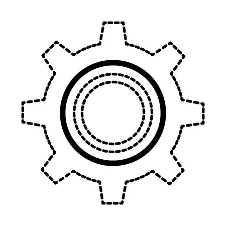 gear machine isolated icon vector illustration design Иллюстрация