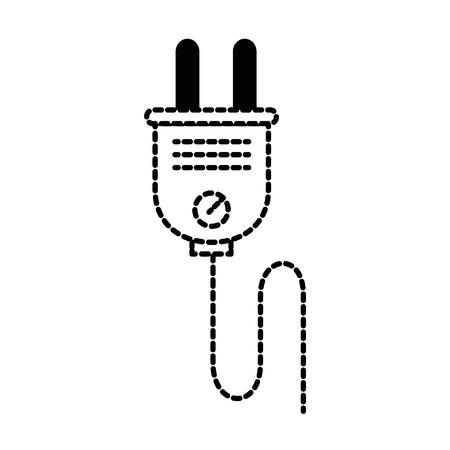 energy plug connector icon vector illustration design Illustration