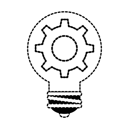 bulb energy with gear vector illustration design