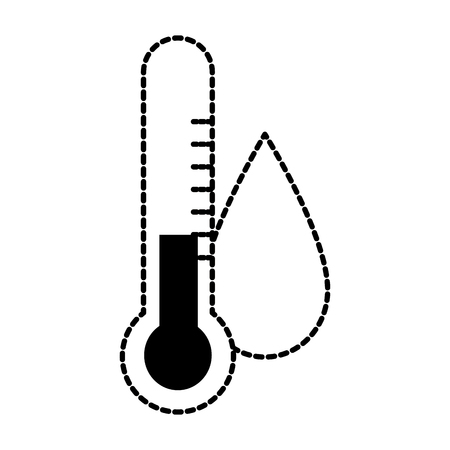 Water drop ecology with thermometer vector illustration design