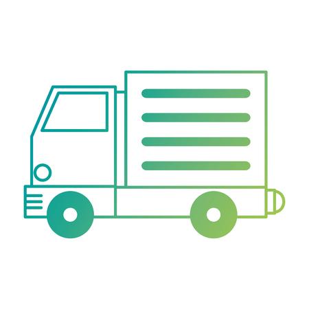 Truck vehicle isolated icon vector illustration design. 矢量图像